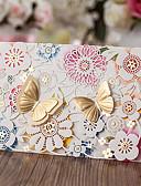 voordelige Bruidsmeisjesjurken-Wikkelen & Verpakking Uitnodigingen van het Huwelijk Anderen Uitnodigingskaarten Klassiek Materiaal Kaart Papier Bloem