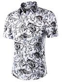 baratos Camisas Masculinas-Homens Tamanhos Grandes Camisa Social - Trabalho Estampado, Estampado Cashemere Algodão / Manga Curta