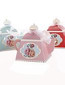 abordables Soportes para Regalo-25pcs tetera creativa caja de favor de la boda caja de dulces decoración del partido