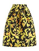 cheap Women's Skirts-Women's Going out A Line Skirts - Mixed Color Print High Waist / Spring / Summer / Loose