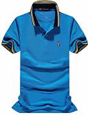 cheap Men's Polos-Men's Active Plus Size Cotton Polo - Solid Colored Print