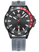 baratos Relógio Elegante-Homens Relógio Esportivo Chinês Impermeável Silicone Banda Casual Preta / Laranja / Cinza