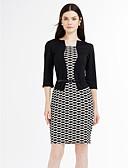 abordables Vestidos de Mujer-Mujer Tallas Grandes Trabajo Chic de Calle Corte Bodycon Vestido - Estilo moderno, Bloques Tiro Alto Hasta la Rodilla