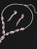 ieftine Rochii de Damă-Pentru femei Sintetic Aquamarine Sintetic Ruby Set bijuterii - Zirconiu Inimă Lux, Modă, Elegant Include Lănțișor Albastru / Roz Pentru Nuntă Petrecere Aniversare / Mulțumesc / Zilnic