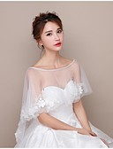 cheap Men's Exotic Underwear-Lace / Tulle Wedding Women's Wrap With Capelets