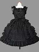 hesapli Kadın Kabanları ve Trençkotları-Prenses Gothic Lolita Punk Elbiseler Kadın's Genç Kız Pamuk Japonca Cosplay Kostümler Büyük Bedenler özelleştirilmiş Siyah Balo Abiyesi Eski Tip Kaplı Kol Kolsuz Kısa / Mini / Gotik Lolita