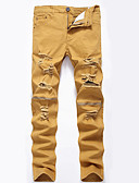 cheap Men's Exotic Underwear-Men's Cotton Loose / Slim / Jeans Pants - Solid Colored