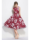 cheap Women's Skirts-Women's Going out Vintage / Sophisticated Sheath Dress - Floral Formal Style / Retro / Floral Style High Rise / Summer / Fall / Floral Patterns