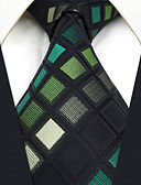 cheap Men's Ties & Bow Ties-Men's Party Work Basic Rayon Necktie - Color Block Check Jacquard Basic