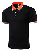 tanie Męskie koszulki polo-Puszysta Polo Męskie Aktywny Kołnierzyk koszuli Szczupła - Solidne kolory / Krótki rękaw