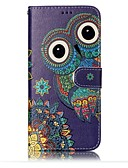 cheap Cellphone Case-Case For Samsung Galaxy S8 Plus / S8 / S7 edge Wallet / Card Holder / with Stand Full Body Cases Owl Hard PU Leather