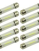 baratos Cintos de Moda-10pçs 36mm Carro Lâmpadas 1 W COB 100 lm 1 LED Iluminação interior For Universal Todos os Anos