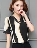 preiswerte T-Shirt-Damen Gestreift T-shirt, V-Ausschnitt / Sommer