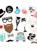 baratos Camisetas & Regatas Masculinas-Adereços e Placas para Fotos Material 22pcs Casamento