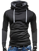cheap Men's Hoodies & Sweatshirts-Men's Sports Contemporary / Active Long Sleeve Slim Hoodie - Solid Colored Hooded