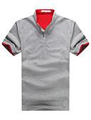 זול חולצות פולו לגברים-אחיד עומד רזה כותנה, Polo - בגדי ריקוד גברים / שרוולים קצרים / אביב / קיץ