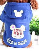 cheap Girls' Tops-Dog Sweatshirt Dog Clothes Cartoon Black Blue Pink Black/Red Blue/Red Cotton Costume For Pets Casual/Daily