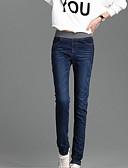 זול מכנסיים לנשים-בגדי ריקוד נשים קלסי ונצחי סקיני / רזה / חותלות מכנסיים אחיד / צבע אחיד