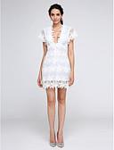 preiswerte Cocktailkleider-Eng anliegend V-Ausschnitt Kurz / Mini Spitze Cocktailparty / Abiball Kleid mit Spitze durch TS Couture®