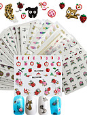 cheap Boys' Clothing-50 pcs Fashion 3D Nail Stickers / Girls & Young Women / 3-D Daily