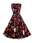levne Dámské šaty-Dámské Pouzdro Swing Šaty - Květinový, Retro styl High Rise
