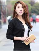 preiswerte Damen Pullover-Damen Wolle Langarm Strickjacke-Solide Gestreift,Druck