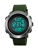 cheap Quartz Watches-SKMEI Women's Sport Watch / Military Watch / Wrist Watch Japanese Alarm / Calendar / date / day / Chronograph PU Band Fashion Black / Green / Grey / Stainless Steel / Water Resistant / Water Proof