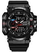 cheap Sport Watches-SMAEL Men's Sport Watch / Military Watch / Digital Watch Japanese Calendar / date / day / Chronograph / Water Resistant / Water Proof PU / Silicone Band Casual / Fashion Black / Red / Orange