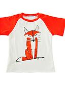 tanie Topy dla chłopców-Brzdąc Dla chłopców Nadruk Krótki rękaw Regularny Bawełna T-shirt Czarny 100