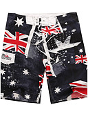 cheap Men's Swimwear-Men's Sporty Bottoms Print Board Shorts
