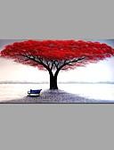 tanie Zegarki luksusowe-Hang-Malowane obraz olejny Ręcznie malowane - Kwiatowy / Roślinny Abstrakcja Płótno / Rozciągnięte płótno