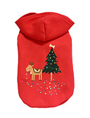 cheap Men's Jackets & Coats-Dog Hoodie Dog Clothes Reindeer Red Cotton Down Costume For Pets Christmas