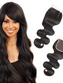 cheap Quartz Watches-Febay 4x4 Closure Body Wave Free Part / Middle Part / 3 Part Swiss Lace Remy Human Hair Daily