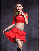 cheap Men's Polos-Belly Dance Outfits Women's Performance Modal Half Sleeves Natural Skirts Top