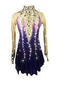 cheap Ice Skating Dresses , Pants & Jackets-Figure Skating Dress Women's / Girls' Ice Skating Dress Purple Spandex Rhinestone High Elasticity Performance Skating Wear Handmade