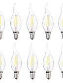 cheap Smartwatches-BRELONG 10 pcs 2W E14 LED Dimmable Candle Bulb C35 DC12V White / Warm White