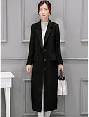 abordables Blazers y Chaquetas de Mujer-Mujer Simple Abrigo Un Color