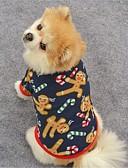 رخيصةأون كنزات نسائية-قط كلب المعاطف T-skjorte كنزة ملابس الكلاب الرنة أزرق داكن بني القطبية ابتزاز كوستيوم للحيوانات الأليفة للمرأة حفلة كاجوال/يومي الدفء