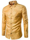 abordables Chemises pour Homme-Chemise Homme Imprimé Luxe / Chic de Rue Rouge L / Manches Longues