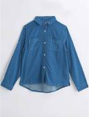 cheap Boys' Clothing-Boys' Polka Dot Shirt, Cotton Spring Fall Long Sleeves Blue