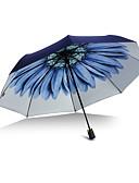 baratos Vestidos de Mulher-Plástico Homens / Mulheres / Para Meninas Ensolarado e chuvoso Guarda-Chuva Dobrável