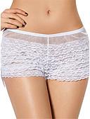 olcso Női hálóruházat-Női Extra méret Ultra szexi bugyi - Háló, Egyszínű Közepes csípő