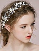 cheap Wedding Veils-Rhinestone Alloy Headbands Headwear Head Chain Hair Tool with Floral 1pc Wedding Special Occasion Anniversary Congratulations Party /