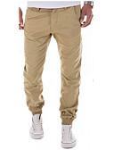ieftine Pantaloni Bărbați si Pantaloni Scurți-Bărbați Chinoiserie Bumbac Skinny / Zvelt / Pantaloni Chinos Pantaloni Mată