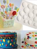 billige Ballkjoler-bursdag ballonger fondant kake silikon molds cupcake mold baking verktøy sjokolade confeitaria