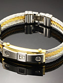 cheap Men's Blazers & Suits-Men's Bracelet Bangles - Stainless Steel Rock, Gothic, Fashion Bracelet Jewelry White For Party Birthday Party / Evening Gift Evening Party