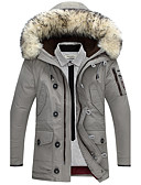 cheap Men's Downs & Parkas-Men's Plus Size Going out Active Cotton Padded - Solid Colored Hooded