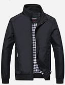 cheap Men's Jackets & Coats-Men's Basic Cotton Jacket - Solid Colored Stand