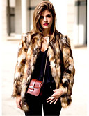 cheap Women's Fur Coats-Women's Going out Faux Fur Fur Coat - Leopard