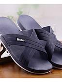 abordables Sombreros de mujer-Hombre PU Verano Confort Zapatillas y flip-flops Negro / Gris / Azul